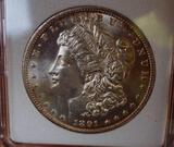 Morgan silver dollar 1891 CC GEM BU Rare date MS++ Blazing premium original Gem