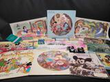 Vintage Disney Placemats pins Wall hangings records tickets movie posters