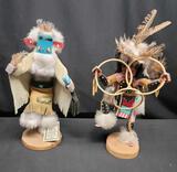Handcarved Kachina dolls Morning Singer Hoopd