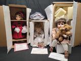 The Ashton Drake Galleries and Danbury mint Porcelain Dolls