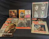 Life magazine cover pages, John Lennon book, Kiss Dynasty record, Reader's Digest