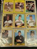 Binder of baseball cards from the 90s