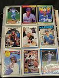 Binder of football, hockey, basketball, baseball, cards from the 80s-2000s