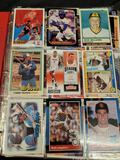 Bind of football, basketball, baseball cards from the 1980s- 2000s