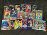17 football cards numbered 0-100, Rookies,