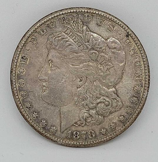 1878 Carson city Morgan silver dollar 1st year minted