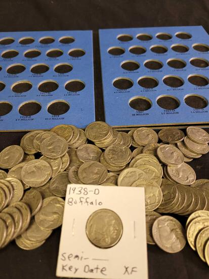 Herd of Buffaloes-100 Full-Date Buffalo Nickels $5 Face Value-Over 1 Pound!!!