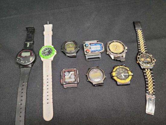 Watch lot Guess Benrus And watch faces no bands nontested
