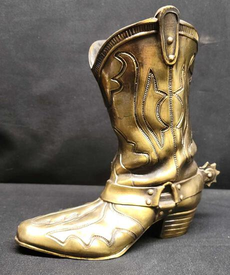 Brass Cowboy boot 7712 SCO. 8.5in tall