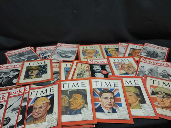 1940's Time and Newsweek weekly magazines