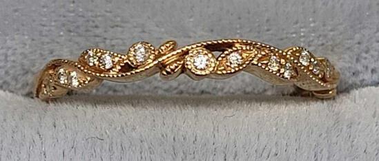 Diamond Ring 14kt Pure Yellow Gold 1/3rd CTW Earth Mined Diamond VS+