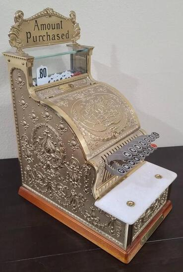 National Cash Register (NCR) Brass Special Edition #313 Candy Store Register 21in tall 54lbs