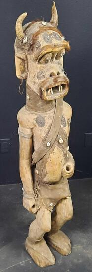 George - Polynesian Wooden Guardian Statue