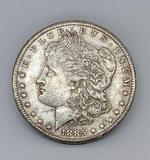 1885 Morgan silver dollar New Orleans Mint