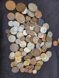 Huge foreign coin lot. Over 100 coins