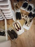 Shoe holder and shoes Size 7 Gucci Born Merrel Coach and more