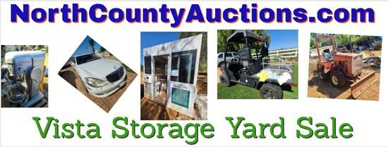 2021 September Vista Storage Yard Auction