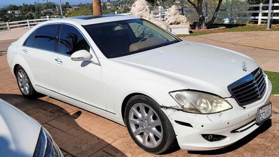 2007 Mercedes Benz S550 Luxury 4 Door Sedan - 170k Miles FRONT END DAMAGE