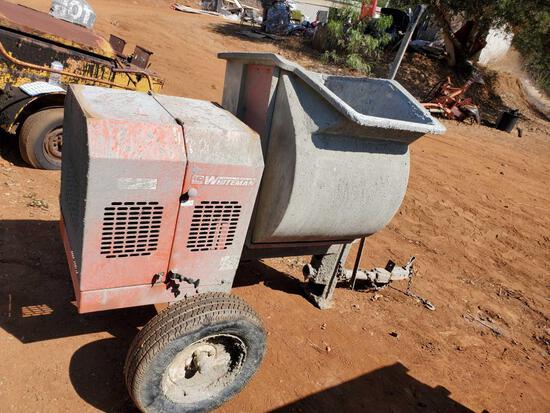 Whiteman Multiquip Gas Motor Concrete Mixer Trailer