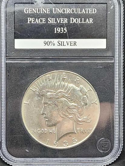 1935 Gem Uncirculated Slabbed Peace Dollar Key Date