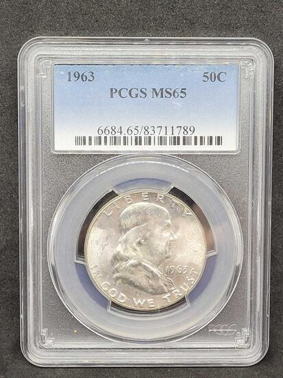 PCGS 1963 MS65 Franklin Half Final Year of the Franklin
