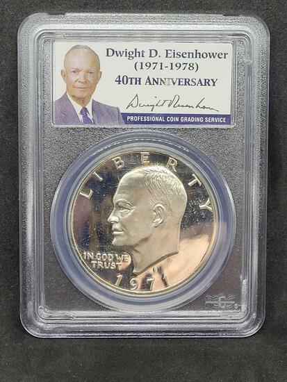 1971-S PCGS PR69DCAM Silver Eisenhower Dollar 40th Anniversary Proof Ike