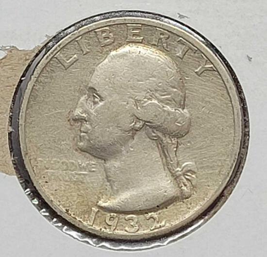 1932-S Washington Quarter-Key Date for the Series. Very Rare. Only 408,000 Minted