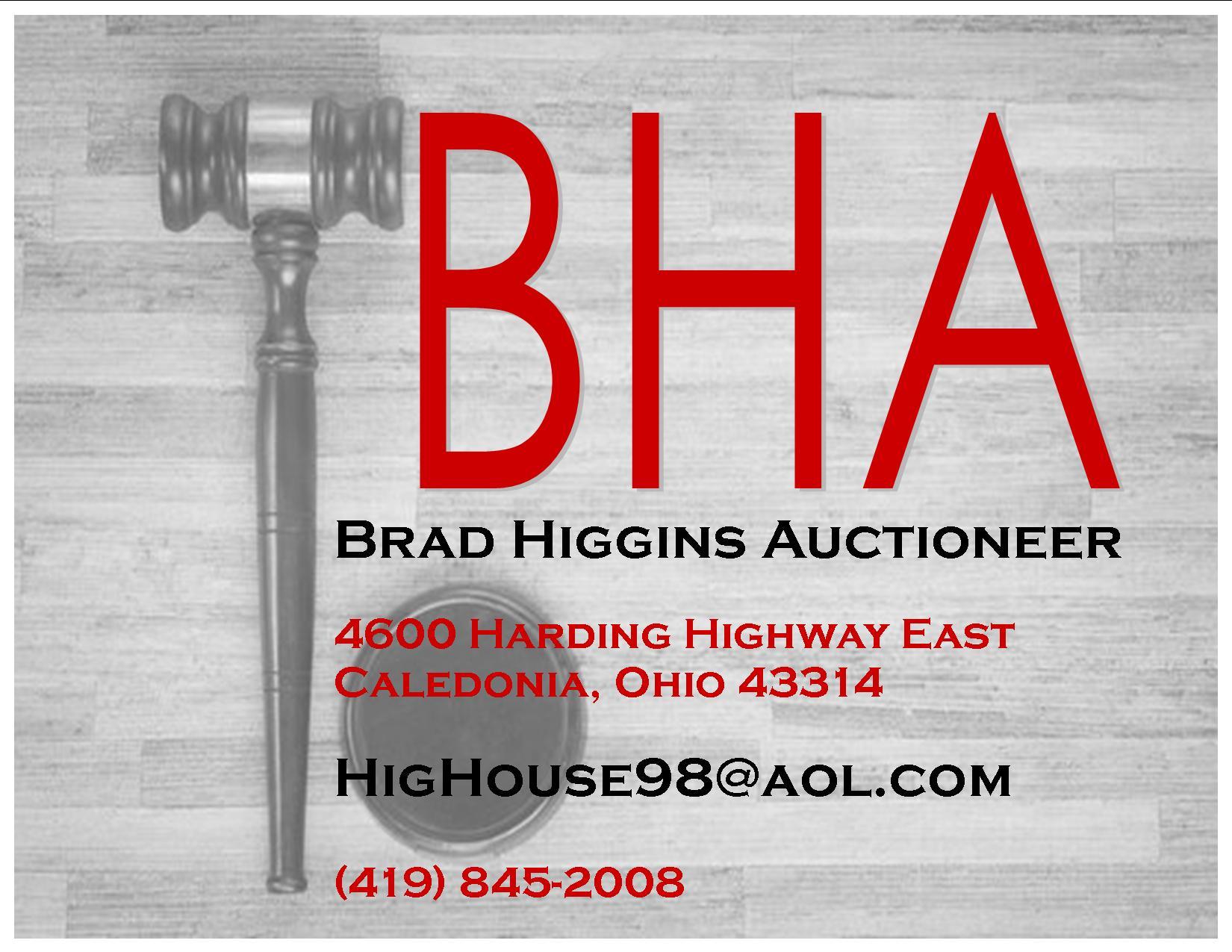 Brad Higgins Auctioneer