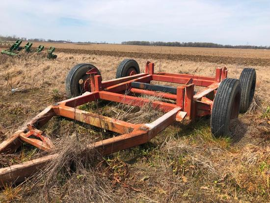 Heavy 4 wheel Grain Cart Running Gear