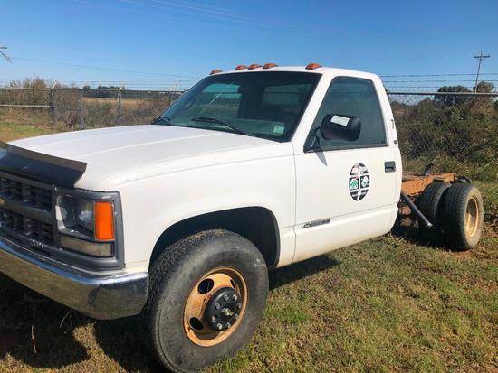 1997 Chevrolet C3500 Pickup Truck, VIN # 1GBJC34R1VF043647