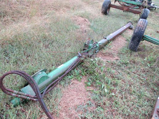 Seed Wagon Hydraulic Auger & 2 4 wheel John Deere Running Gear Trailers