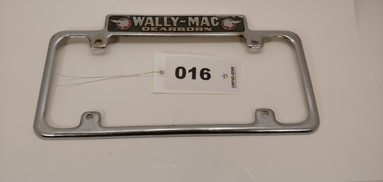 Wally-mac Dearborn License Plate Frame