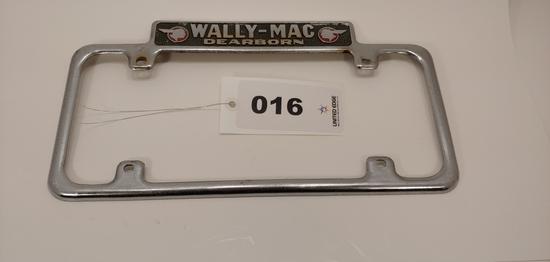 Wally-mac Dearborn License Plate Frame