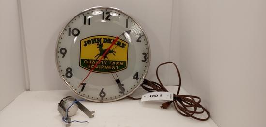 John Deere Light Up Dealership Clock