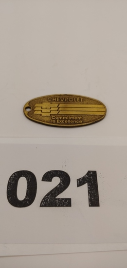 Brass Chevrolet Key Tag