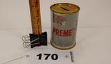 Sohio Premex Oil Can Tin Bank