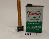 Sinclair Outboard Motor Oil Can