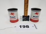Mobil Upperlube Can Lot Of 2 Cans