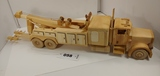 Wood Toy Tow Truck