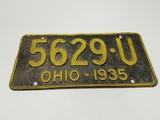 1935 Ohio License Plate