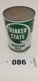 Quaker State Motor Oil Can, Sealed