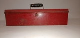 Red Metal Tool Box with Tray