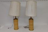 Wicker & Brass Decorative Lamps