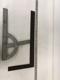 Metal Square & Saw Protractor