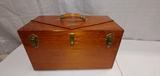 Wood, handmade tool box