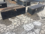 Black Steel Truck Tool Boxes Lot of 2