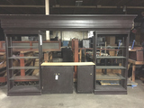 Wall Bar Unit w/ Glass Shelves