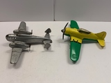 Hubley and Wyandotte Metal Toy Planes
