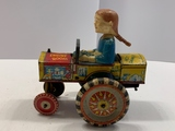 Metal Wind-up Toy Tractor