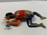 Ohio Art Metal Wind-up Indian Toy